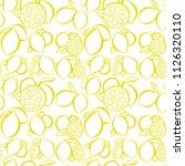 lemon. citrus. seamless citrus... | Shutterstock .eps vector #1126320110