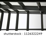 abstract modern architecture.... | Shutterstock . vector #1126322249