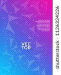 trendy cover page layout.... | Shutterstock .eps vector #1126324226