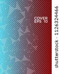 trendy report template. global... | Shutterstock .eps vector #1126324466