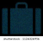 halftone baggage collage icon... | Shutterstock .eps vector #1126326956