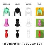 women clothing cartoon black... | Shutterstock .eps vector #1126334684