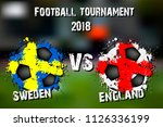 soccer game sweden vs england.... | Shutterstock .eps vector #1126336199
