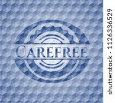 carefree blue emblem with... | Shutterstock .eps vector #1126336529