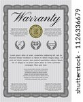 grey warranty template. good... | Shutterstock .eps vector #1126336679