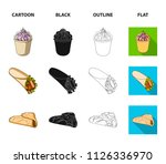 food  refreshments  snacks and... | Shutterstock .eps vector #1126336970