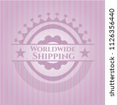 worldwide shipping vintage pink ... | Shutterstock .eps vector #1126356440
