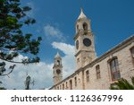 clock towers at the royal naval ... | Shutterstock . vector #1126367996