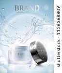 moisturizing skincare ads with... | Shutterstock .eps vector #1126368809