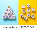 two sides symbolizing with... | Shutterstock . vector #1126369646