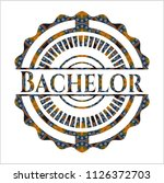 bachelor arabic emblem....   Shutterstock .eps vector #1126372703