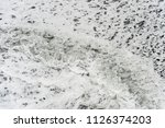 waves on black sand ...   Shutterstock . vector #1126374203