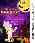 halloween holiday greeting...   Shutterstock .eps vector #1126374614