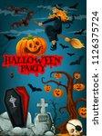 halloween party promotion...   Shutterstock .eps vector #1126375724