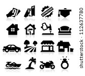 loan type icons | Shutterstock .eps vector #112637780
