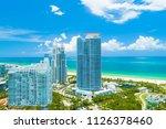 aerial view of miami beach ... | Shutterstock . vector #1126378460