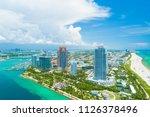 aerial view of miami beach ...   Shutterstock . vector #1126378496
