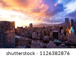 A beautiful sunset one day before spring started in Vancouver, BC - stock photo