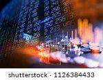 double exposure image of stock... | Shutterstock . vector #1126384433