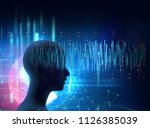 silhouette of virtual human on... | Shutterstock . vector #1126385039