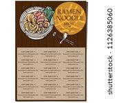 menu ramen noodle japanese food ... | Shutterstock .eps vector #1126385060