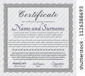 grey sample diploma.... | Shutterstock .eps vector #1126388693