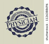 blue physician distress rubber... | Shutterstock .eps vector #1126388696