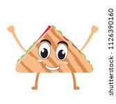 isolated happy taco emote | Shutterstock .eps vector #1126390160