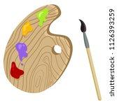 vector single color flat icon   ... | Shutterstock .eps vector #1126393259