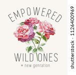 typography slogan with wild... | Shutterstock .eps vector #1126400969