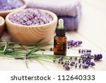 aromatherapy oil andbowl of... | Shutterstock . vector #112640333