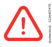 red caution sign  exclamation... | Shutterstock .eps vector #1126407470
