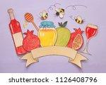 rosh hashanah  jewish new year... | Shutterstock . vector #1126408796