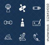 premium set of outline  fill... | Shutterstock .eps vector #1126414310