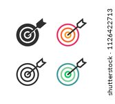 arrow reached the target's... | Shutterstock .eps vector #1126422713