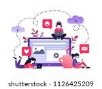 vector ultraviolet gradient... | Shutterstock .eps vector #1126425209