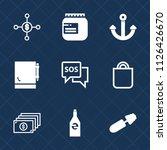 premium set of outline  fill... | Shutterstock .eps vector #1126426670