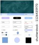 light pink  blue vector ui ux...