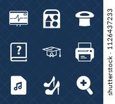 premium set of outline  fill... | Shutterstock .eps vector #1126437233