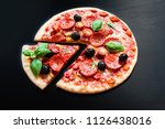 traditional italian pepperoni ... | Shutterstock . vector #1126438016
