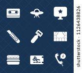 premium set of outline  fill... | Shutterstock .eps vector #1126438826