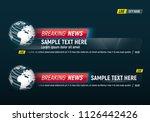 lower third for news header.... | Shutterstock .eps vector #1126442426