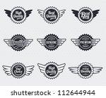 quality premium label badges  ... | Shutterstock .eps vector #112644944