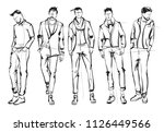 fashion man. set of fashionable ... | Shutterstock .eps vector #1126449566