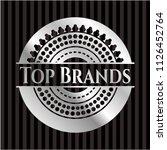 top brands silver emblem or... | Shutterstock .eps vector #1126452764