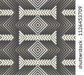seamless aztec design. abstract ... | Shutterstock .eps vector #1126453709