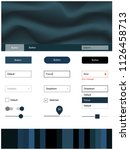 light blue vector web ui kit...