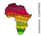 textured vector map of africa....   Shutterstock .eps vector #1126459856