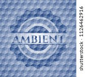 ambient blue emblem with... | Shutterstock .eps vector #1126462916