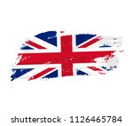 british flag made of brush... | Shutterstock .eps vector #1126465784